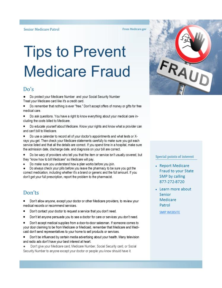 TipsToPreventMedicareFraud